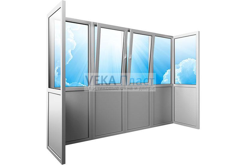Балкон от плиты до плиты